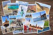 World Travel Photo Stack poster