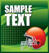 image of football field  - colored football helmet advertisement - JPG