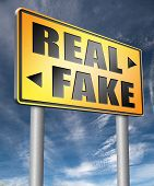 fake versus real possible or impossible reality check searching truth being skeptic skepticism  3D,  poster