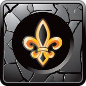 fleur de lis on cracked web icon