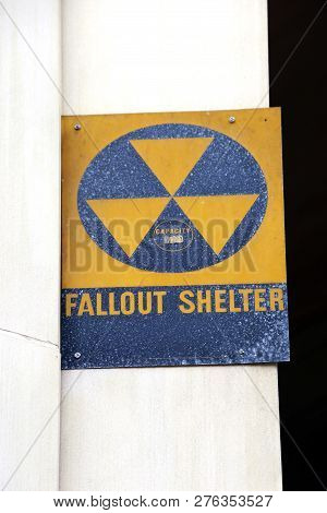 A Fallout Shelter Sign Leftover