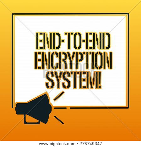 poster of Handwriting Text Writing End To End Encryption System. Concept Meaning Method Used For Securing Encr