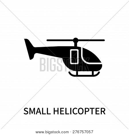 Small Helicopter Icon Isolated On