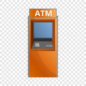Street Atm Icon. Cartoon Of Street Atm Vector Icon For Web Design For Web Design poster