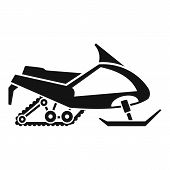Expedition Snowmobile Icon. Simple Illustration Of Expedition Snowmobile Icon For Web Design Isolate poster