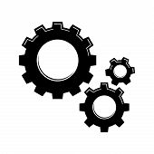 Settings Gears Icon Vector In Modern Flat Style For Web, Graphic And Mobile Design. Settings Gears I poster