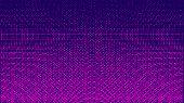 Halftone Pattern. Horizontal Vector Illustration. Pink Dots, Blue Halftone Texture. Color Halftone R poster
