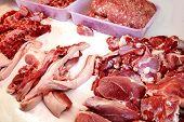 Raw Pork Pieces Meat, Fat Pork In Market Fresh, Raw Pork, Raw Pork Pieces Meat poster
