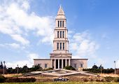 stock photo of freemason  - Washington Masonic Temple and memorial tower in Alexandria Virginia - JPG