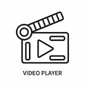 Video Player Icon Isolated On White Background. Video Player Icon Simple Sign. Video Player Icon Tre poster