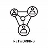Networking Icon Isolated On White Background. Networking Icon Simple Sign. Networking Icon Trendy An poster