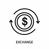 Exchange Icon Isolated On White Background. Exchange Icon Simple Sign. Exchange Icon Trendy And Mode poster