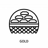 Gold Icon Isolated On White Background. Gold Icon Simple Sign. Gold Icon Trendy And Modern Symbol Fo poster
