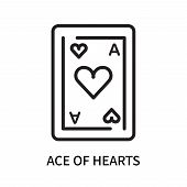 Ace Of Hearts Icon Isolated On White Background. Ace Of Hearts Icon Simple Sign. Ace Of Hearts Icon  poster
