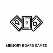 Memory Board Games Icon Isolated On White Background. Memory Board Games Icon Simple Sign. Memory Bo poster