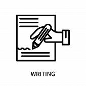 Writing Icon Isolated On White Background. Writing Icon Simple Sign. Writing Icon Trendy And Modern  poster