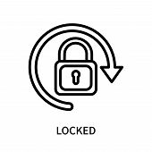 Locked Icon Isolated On White Background. Locked Icon Simple Sign. Locked Icon Trendy And Modern Sym poster