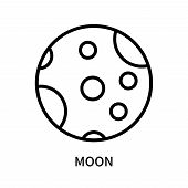 Moon Icon Isolated On White Background. Moon Icon Simple Sign. Moon Icon Trendy And Modern Symbol Fo poster