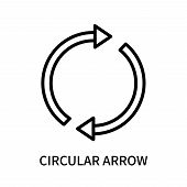 Circular Arrow Icon Isolated On White Background. Circular Arrow Icon Simple Sign. Circular Arrow Ic poster