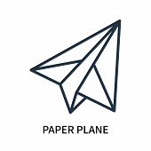 Paper Plane Icon Isolated On White Background. Paper Plane Icon Simple Sign. Paper Plane Icon Trendy poster