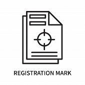 Registration Mark Icon Isolated On White Background. Registration Mark Icon Simple Sign. Registratio poster