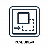Page Break Icon Isolated On White Background. Page Break Icon Simple Sign. Page Break Icon Trendy An poster