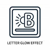 Letter Glow Effect Icon Isolated On White Background. Letter Glow Effect Icon Simple Sign. Letter Gl poster