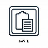 Paste Icon Isolated On White Background. Paste Icon Simple Sign. Paste Icon Trendy And Modern Symbol poster