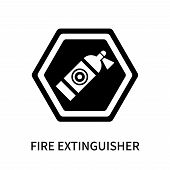 Fire Extinguisher Icon Isolated On White Background. Fire Extinguisher Icon Simple Sign. Fire Exting poster