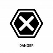 Danger Icon Isolated On White Background. Danger Icon Simple Sign. Danger Icon Trendy And Modern Sym poster