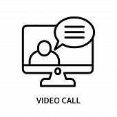 Video Call Icon Isolated On White Background. Video Call Icon Simple Sign. Video Call Icon Trendy An poster