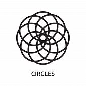 Circles Icon Isolated On White Background. Circles Icon Simple Sign. Circles Icon Trendy And Modern  poster