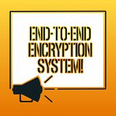 Handwriting Text Writing End To End Encryption System. Concept Meaning Method Used For Securing Encr poster