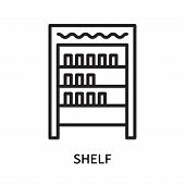 Shelf Icon Isolated On White Background. Shelf Icon Simple Sign. Shelf Icon Trendy And Modern Symbol poster