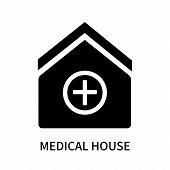 Medical House Icon Isolated On White Background. Medical House Icon Simple Sign. Medical House Icon  poster