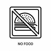 No Food Icon Isolated On White Background. No Food Icon Simple Sign. No Food Icon Trendy And Modern  poster