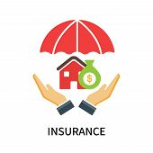 Insurance Icon Isolated On White Background. Insurance Icon Simple Sign. Insurance Icon Trendy And M poster