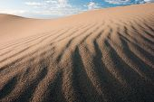 picture of quicksand  - sandstone dune waves on desert in mongolia - JPG