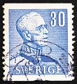 Postage stamp Sweden 1940 King Gustaf V, King of Sweden