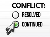 picture of friction  - conflict continues question and answer selection design - JPG