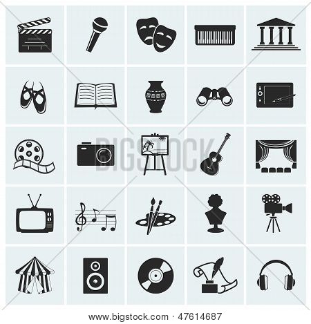Collection Of Vector Arts Icons. poster