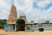 picture of vinayagar  - Hindu temple Matale Sri Muttu Mariyamman with the big traditional tower  - JPG