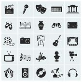 stock photo of microphone  - Collection of 25 arts and creative icons - JPG