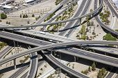 image of underpass  - Aerial view of a major freeway interchange in the heart of Phoenix - JPG