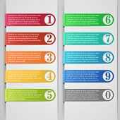 picture of indications  - Modern number list infographic banner - JPG