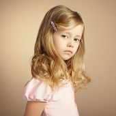 stock photo of little girls photo-models  - Portrait of pretty little girl - JPG