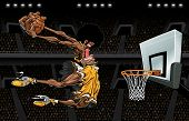 foto of slam  - Vector illustration of an African American basketball player about  - JPG