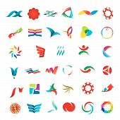 picture of distortion  - versatile collection of various color stylized abstract icons - JPG