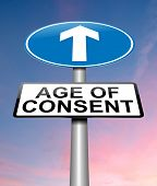pic of underage  - Illustration depicting a sign with an under age concept - JPG