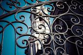 Detail Of The Side Gates Of The Cathedral In Arequipa, Peru, South America